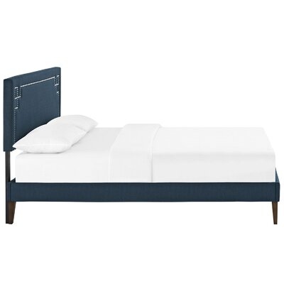 Josie Upholstered Platform Bed Finish: Azure, Size: King