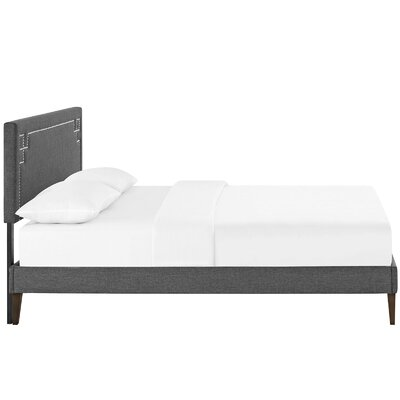 Kerley Upholstered Platform Bed Size: Full, Color: Gray