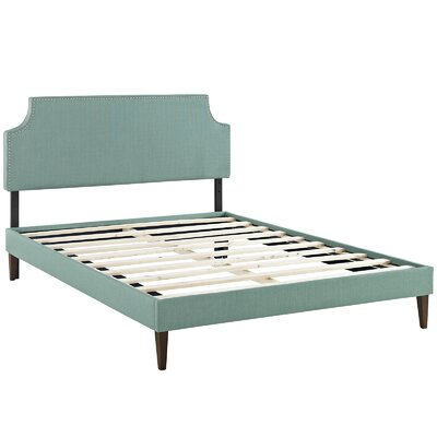 Preciado Upholstered Platform Bed with Squared Tapered Legs Finish: Laguna, Size: Full