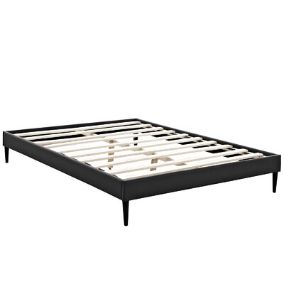 Sherry Platform Bed Size: King, Color: Black
