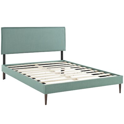 Sardina Upholstered Platform Bed Size: King, Color: Laguna