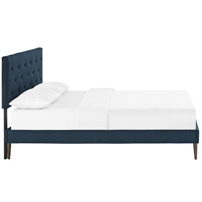 Terisa Upholstered Platform Bed Finish: Azure, Size: Queen