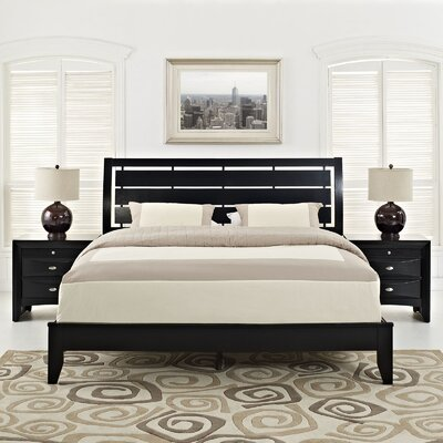 Olivia Panel 3 Piece Bedroom Set Size: Queen