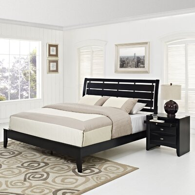 Olivia Platform 2 Piece Bedroom Set Size: King