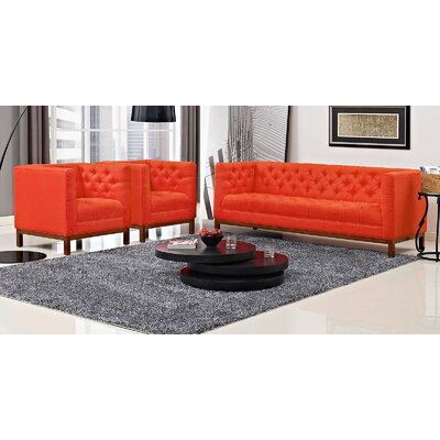 Panache 3 Piece Living Room Set Upholstery: Atomic Red