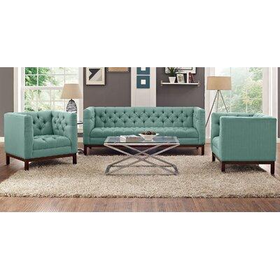 Panache 3 Piece Fabric Living Room Set Upholstery: Laguna