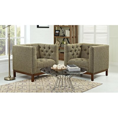 Panache Fabric Living Room Armchair Upholstery: Oatmeal