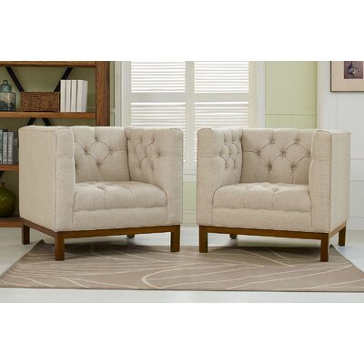 Panache Fabric Living Room Armchair Upholstery: Beige