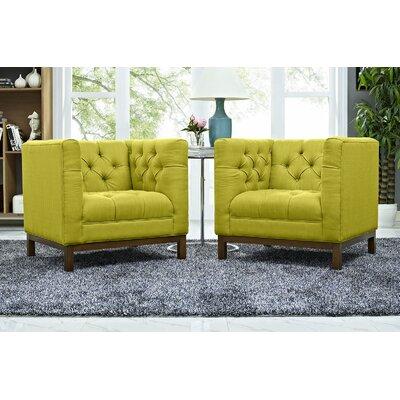 Panache Fabric Living Room Armchair Upholstery: Wheatgrass