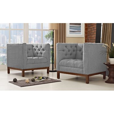 Panache Living Room Set Upholstery: Expectation Gray
