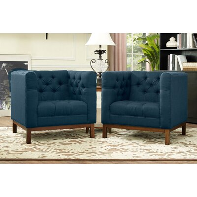 Panache Fabric Living Room Armchair Upholstery: Azure