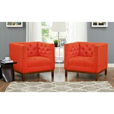 Panache Fabric Living Room Armchair Upholstery: Atomic Red
