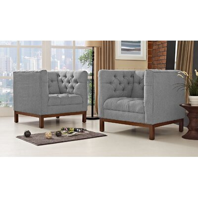 Panache Living Room Set Upholstery: Gray