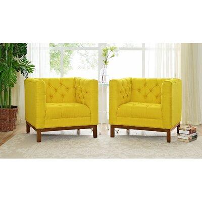 Panache Fabric Living Room Armchair Upholstery: Sunny