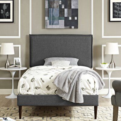 Sardina Upholstered Platform Bed Size: Twin, Color: Gray