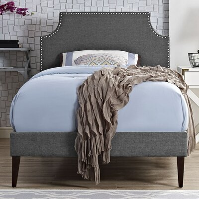 Laura Upholstered Platform Bed Finish: Gray, Size: Twin
