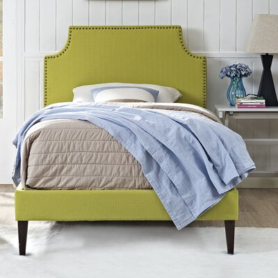 Laura Upholstered Platform Bed Size: Twin, Finish: Wheatgrass