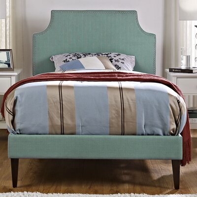 Preciado Upholstered Platform Bed Size: Queen, Color: Laguna
