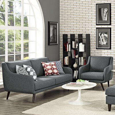 Verve 2 Piece Living Room Set Upholstery: Gray
