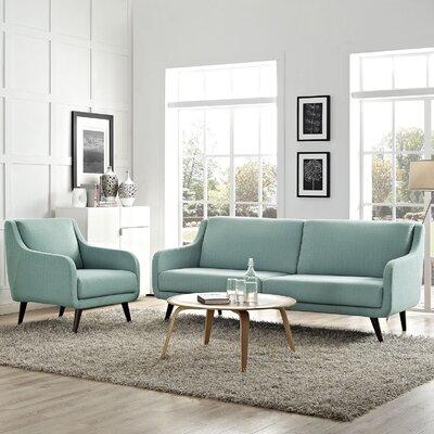 Verve 2 Piece Living Room Set Upholstery: Laguna