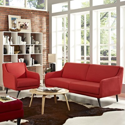 Verve 2 Piece Living Room Set Upholstery: Atomic Red