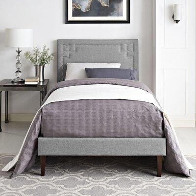 Josie Upholstered Platform Bed Size: Twin, Finish: Light Gray