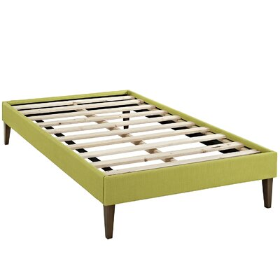Sharon Platform Bed Size: Twin, Color: Wheatgrass