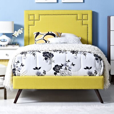 Josie Upholstered Platform Bed Size: Twin, Finish: Sunny