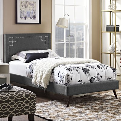 Josie Upholstered Platform Bed Finish: Gray, Size: Twin
