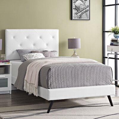 Terisa Upholstered Platform Bed Finish: White, Size: Twin