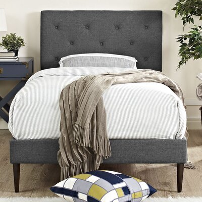 Terisa Upholstered Platform Bed Finish: Gray, Size: Twin