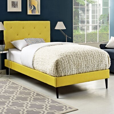 Terisa Upholstered Platform Bed Size: Twin, Finish: Sunny