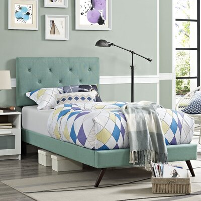 Terisa Upholstered Platform Bed Finish: Laguna, Size: King