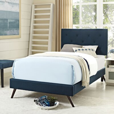 Terisa Upholstered Platform Bed Finish: Azure, Size: Twin