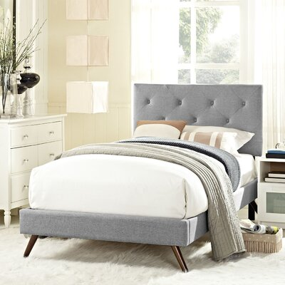 Terisa Upholstered Platform Bed Size: Twin, Finish: Light Gray