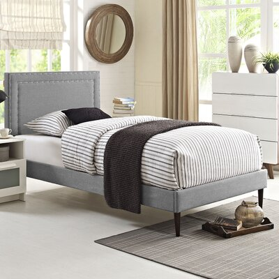 Jessamine Upholstered Platform Bed Size: Twin, Finish: Light Gray