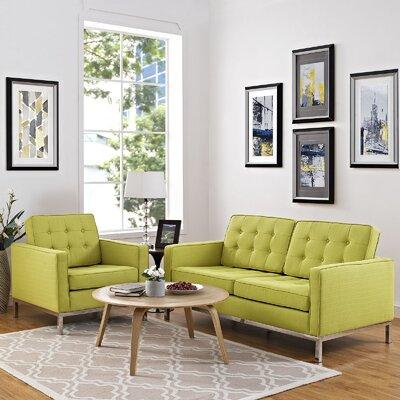 Gayatri 2 Piece Living Room Set Upholstery: Wheatgrass