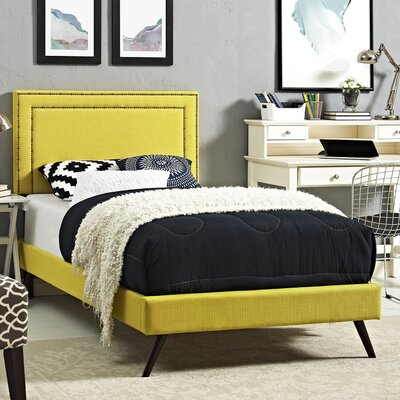 Jessamine Upholstered Platform Bed Size: Twin, Finish: Sunny