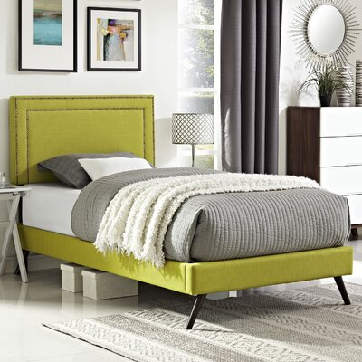 Eyre Contemporary Upholstered Platform Bed Size: Twin, Finish: Wheatgrass