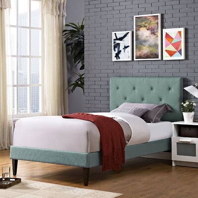 Terisa Upholstered Platform Bed Finish: Laguna, Size: Twin
