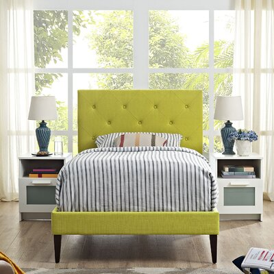 Ziemer Upholstered Platform Bed Size: Full, Color: Azure
