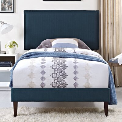 Camille Upholstered Platform Bed Size: King, Finish: Azure