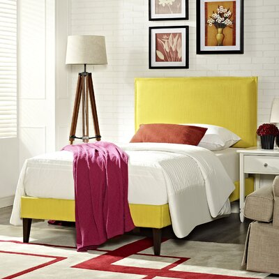Camille Upholstered Platform Bed Size: Twin, Finish: Sunny