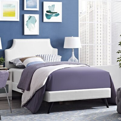 Preciado Upholstered Platform Bed Size: Queen, Color: White