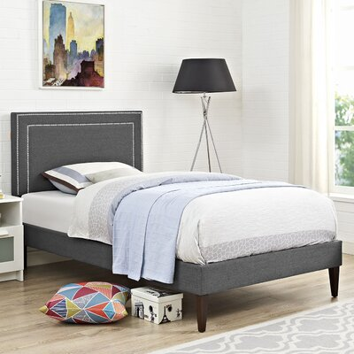 Eyre Upholstered Wood Platform Bed Size: Twin, Finish: Gray