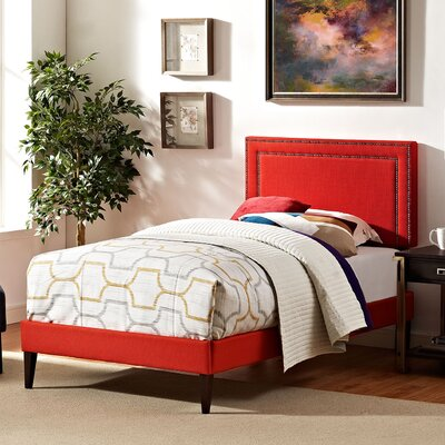 Eyre Upholstered Platform Bed Size: King, Color: Laguna