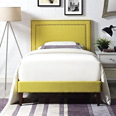 Eyre Upholstered Wood Platform Bed Size: Twin, Finish: Sunny