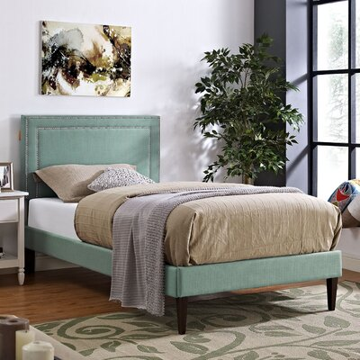 Jessamine Upholstered Platform Bed Size: Twin, Finish: Laguna
