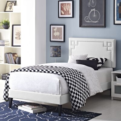 Kerley Upholstered Platform Bed Color: White