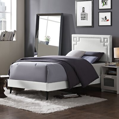 Josie Upholstered Platform Bed Finish: White